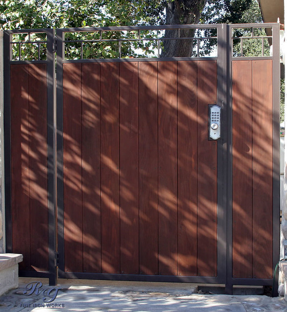 Wood & Iron Gates - Traditional - los angeles - by RG Fine Iron Works