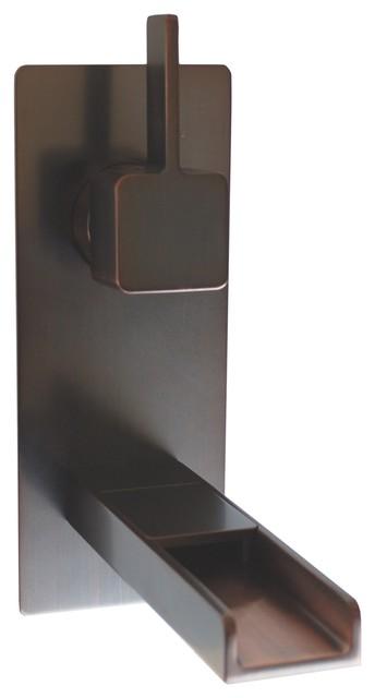 Eden Bath FM002WRB Cascada Waterfall Wall Mount Faucet - Oil Rubbed Bronze traditional-bathroom-faucets