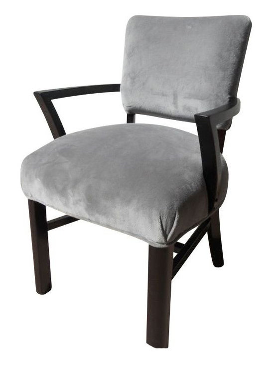 SOLD OUT!  Vintage Gray Velvet Side Chair - $550 Est. Retail - $400 on Chairish. -