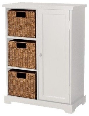 Entryway Storage Cabinet, White contemporary-storage-units-and-cabinets