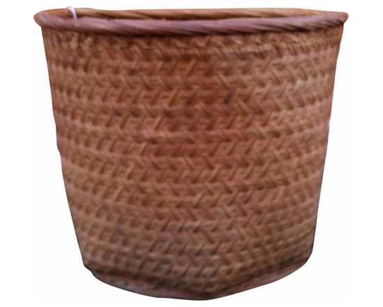Round Basket - Large, round basket; tightly weaved.  Sturdy enough that glass top could be added to use as small side table.