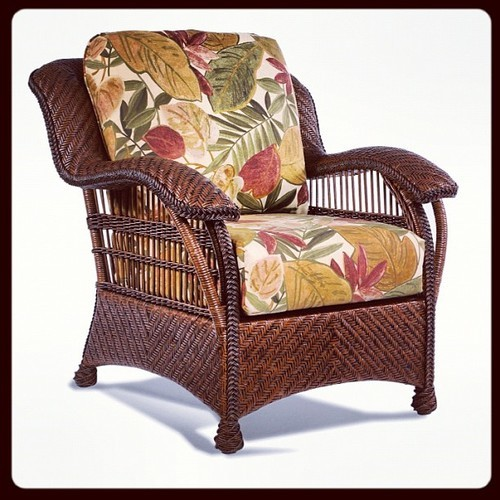 #brown #rattan #wicker herringbone #style #chair...  furniture