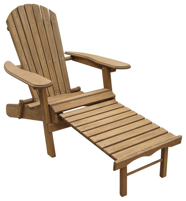 coastal placentia natural outdoor adirondack chair with ottoman beach style outdoor chaise. Black Bedroom Furniture Sets. Home Design Ideas