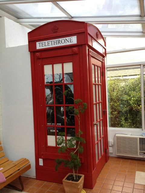 Bathroom london phone booth enclosure eclectic orlando for Bathroom designs london