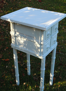 Shabby Chic Small Side Table with Drawers From Vintage Oak ...