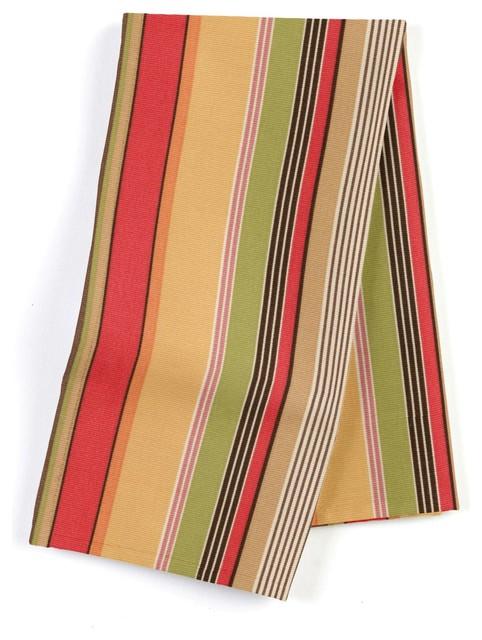 Modern Stripe Custom Napkins, Red and Orange, Set of 4 traditional-napkins