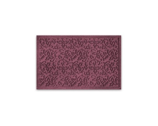 Balsam Hill Floral Scroll StormGuard™ Mat - A TOUCH OF SOPHISTICATION WITH BALSAM HILL'S FLORAL SCROLL STORMGUARD™ MAT |