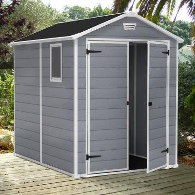 keter manor 6 x 8 ft storage shed modern sheds by. Black Bedroom Furniture Sets. Home Design Ideas