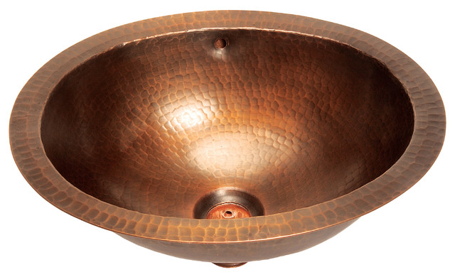 BFC11 WC Small Oval Lavatory Undermount Copper Sink - Bathroom Sinks ...