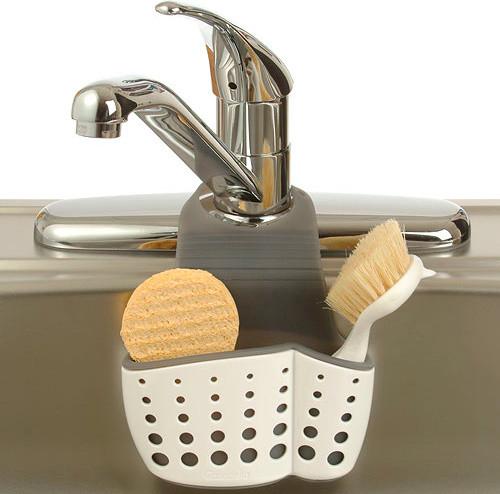 Adjustable Dish Brush and Sponge Holder - Kitchen Sink Accessories - detroit - by Organize-It
