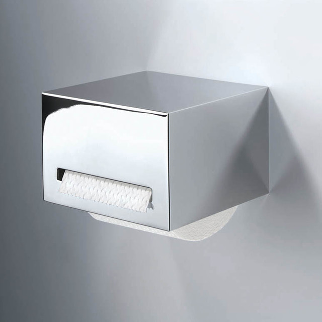 Harmony Chrome Toilet Paper Holder contemporary-toilet-paper-holders