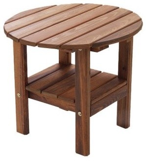 Great American Woodies Vintage America Cypress 24 in. Round Side Table modern-side-tables-and-end-tables