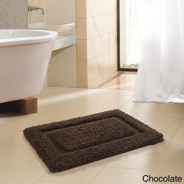 Bathroom Rugs Modern: FreePort Microfiber High Pile Memory Foam Bath Rug