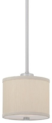 Dolan Designs Tecido Mini-Pendant With Beige Fabric Shade contemporary-pendant-lighting