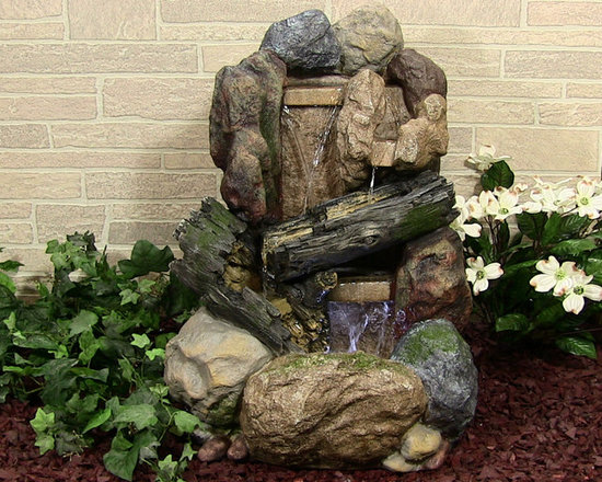Outdoor Classics - Rock and Wood Fountain - Everyone should have a waterfall in their yard somewhere and this one fits in nicely with a natural decor style.  The best thing about this water feature is that it is relatively lightweight, so it can be moved easily.