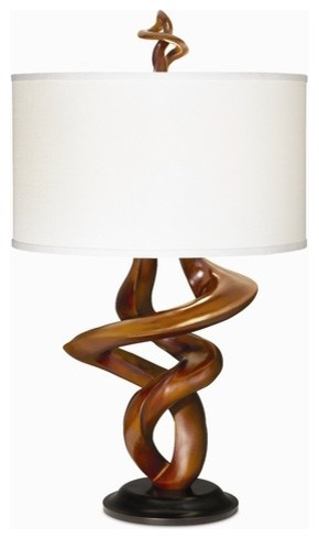 Gallery Tribal Impressions Table Lamp in African Walnut modern-table-lamps