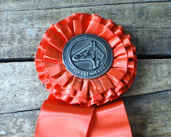 Vintage Horse Show Ribbon, 1964, Bonnie Brook Red by The Lost Rooms -