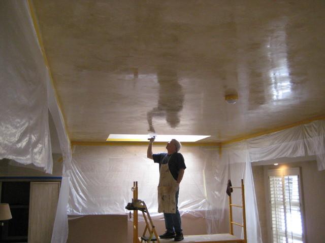 Living room ceiling italian venetian plaster bella faux finishes