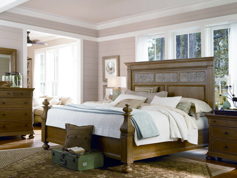 Paula Deen Aunt Peggy's Bedroom Set in Oatmeal traditional-dressers-chests-and-bedroom-armoires