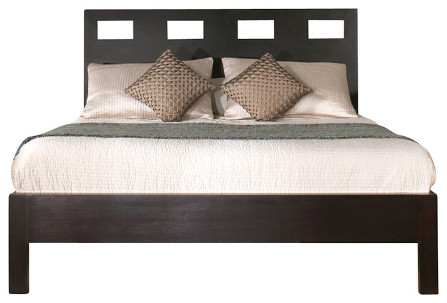 Modus Nevis Riva Platform Bed in Espresso - King traditional-beds