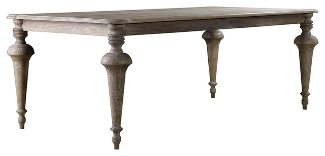 Great Spindle Rectangular Dining Table traditional-dining-tables