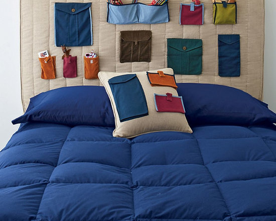 Pockets Headboard Cover -
