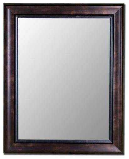Espresso Walnut Mirror with Walnut Liner traditional-mirrors