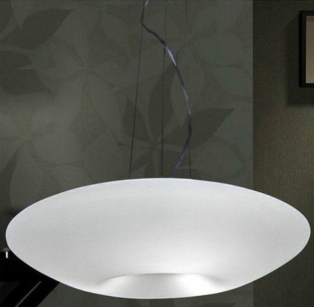 Modern Dis White Glass Pendant Lighting modern-pendant-lighting