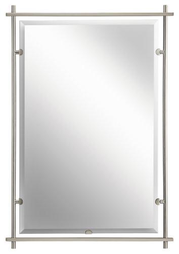 Kichler 41096ni Brushed Nickel Eileen Modern Large Rectangular Mirror Contemporary Wall Mirrors