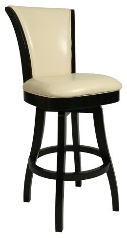 Pastel Glenwood 30 in. Swivel Bar Stool - Feher Black contemporary-bar-stools-and-counter-stools