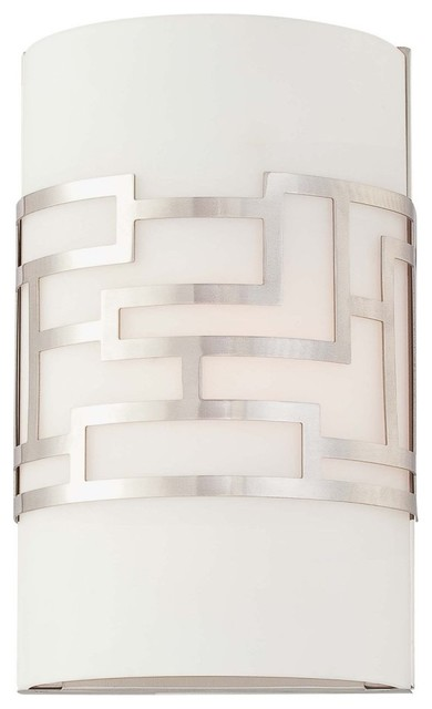 George Kovacs by Minka P195-084 1-Light Wall Sconce - Brushed Nickel - 6.5W in. modern-wall-sconces