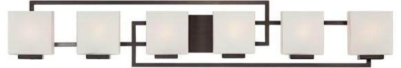 Possini Euro Lighting On The Square Six Light Bath Wall transitional-bathroom-vanity-lighting