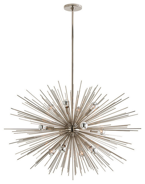 Zanadoo Large Silver Chandelier transitional-chandeliers