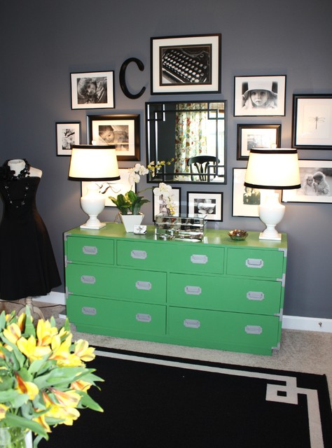 Green and Gray Home Office