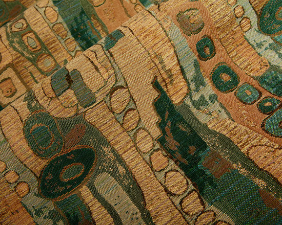 Painterly Upholstery Fabric in Forest - Painterly Upholstery Fabric in Forest Green. Woven, patterned Cotton Blend Upholstery Fabric Abstract Design perfect for upholstering sofas, chairs, seats, and benches, or accent pillows.