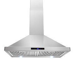 "AKDY AG-ZBI30S Euro Stainless Steel Wall Mount Range Hood, 30"" modern-range-hoods-and-vents"