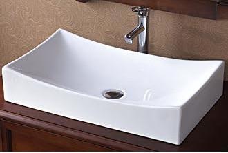 Ronbow Rectangle Ceramic Vessel Sink bathroom-sinks