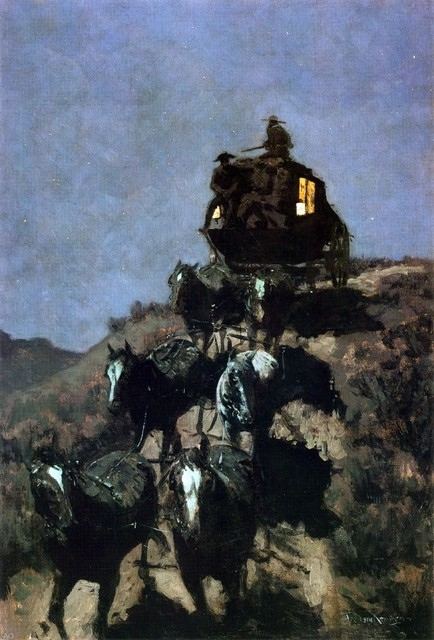 Frederic Remington The Old Stage Coach of the Plains   Print traditional-artwork