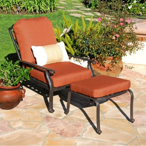 Caluco Florence Adjustable Chair with Ottoman Traditional Outdoor Lounge