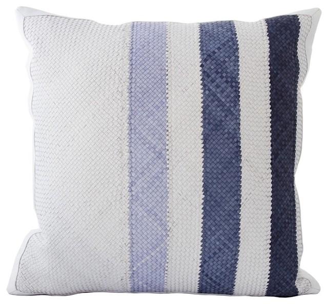 Woven Leather Throw Pillows contemporary-decorative-pillows