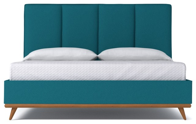 Carter Upholstered Bed From Kyle Schuneman Biloxi Blue Midcentury