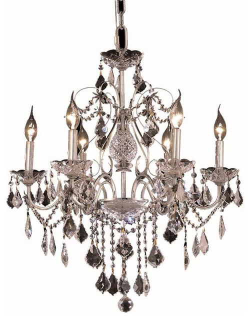 Elegant Lighting 2015D24C/EC St. Francis 6 Light Chandeliers in Chrome transitional-chandeliers