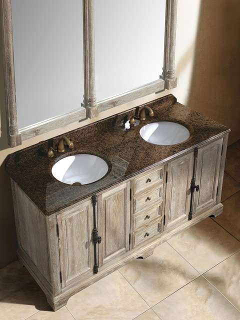 71 Quot Castelli Double Sink Vanity Driftwood Transitional San Diego By Bathgems
