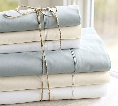 PB Organic 400-Thread-Count Sheet Set, Cal. King, Natural traditional-sheets