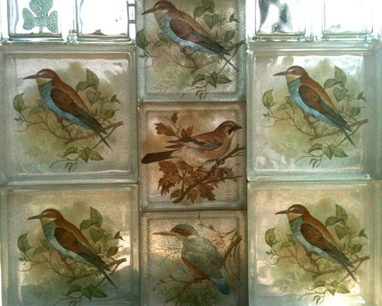 BIRDS - DECOR,DESIGN,GLASS,ARTGLASS,GLASSBLOCKS,DECORGLASSBLOCKS,GLASBLOX,ART,ARCHITECTS