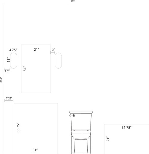 Need help on bathroom vanity, sconces, mirror placement and size