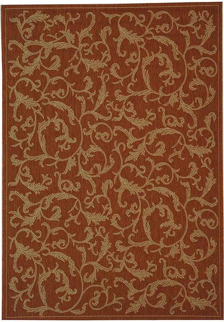 Safavieh Courtyard CY2653-3202 Terracotta Area Rug mediterranean-carpet-tiles