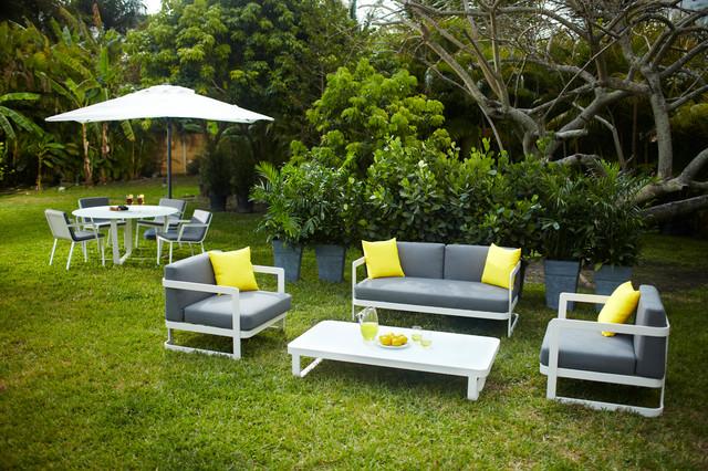 Verona outdoor patio set tropical landscape miami for El dorado patio furniture