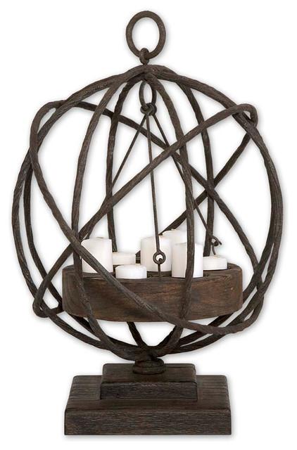Uttermost 17059 Sammy Wooden Candleholder contemporary-candleholders