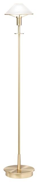 Contemporary Holtkoetter Brushed Brass Alabaster White Glass Floor Lamp contemporary-floor-lamps